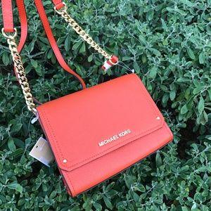 Michael Kors HAYES Pebbled Leather SM Clutch Bag